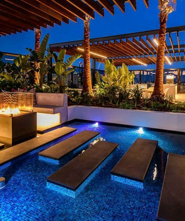 Midnight Blue Stone Pavers & Tiles - Leather Finish