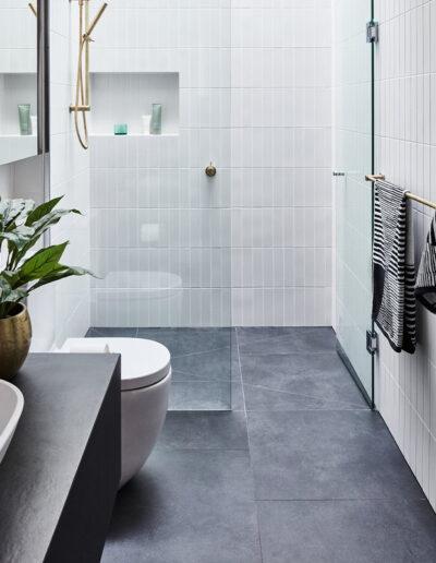 Stone tiles floor bathroom grey tiles stone