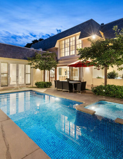 Bluestone pool tiles and pavers with pool coping blue stone tiles
